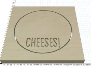 CNC 200mm Circular Cheese Board, PLE-6040 CNC