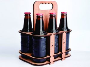3D Laser Cut 6-Pack Beer Caddy