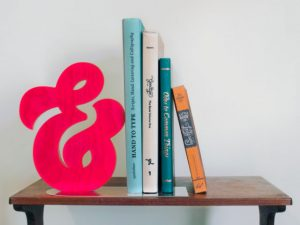 CNC Ampersand Bookend 19mm plywood