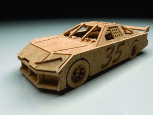 3D Laser Cut Racing Car