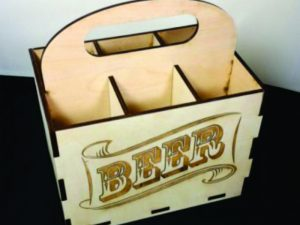 3D Laser Cut Beer Caddy