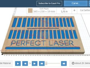 CNC Perfect Laser Bit Tray, 19mm wood