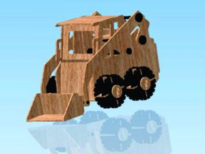 3D Laser Cut Model Tractor Bulldozer
