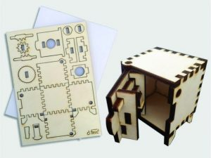 3D Laser Cut Wooden Mini Safe Vault Toy