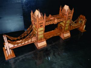 3D Laser Cut London Bridge