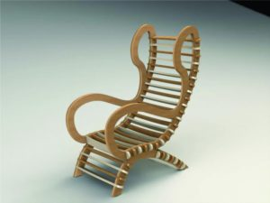 3D Laser Cut Toy Chair