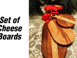 CNC Set of 3 Cheese Boards, 16mm bamboo or wood