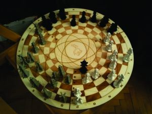 3D Laser Cut Circular Chess Board