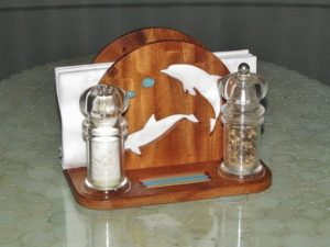 CNC Dolphin Napkin Holder 7.6mm wood, plywood or MDF