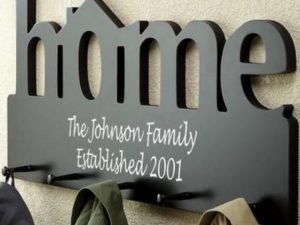 CNC Home Sign Hanging Rack 12mm plywood or MDF
