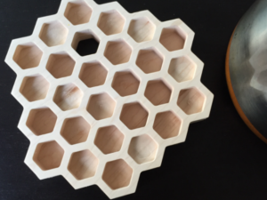CNC Honeycomb Trivet, 22mm hard wood