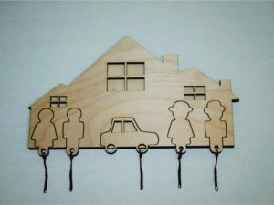 Laser Cut Decorative House Key Holder