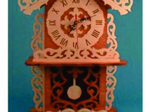 3D Laser Cut Mantel Clock