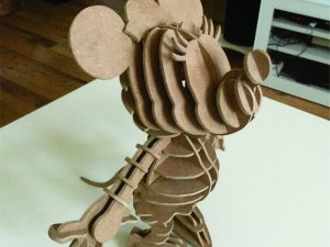 3D Laser Cut Minnie Mouse