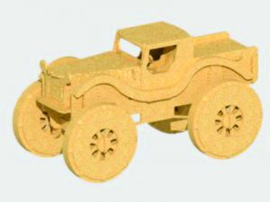 3D Laser Cut Monster Truck