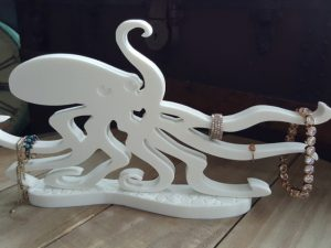 CNC Octopus Jewellery Stand 12mm Corian, Perspex, PVC Foam Board