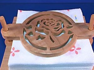 CNC Rose Motif Serviette Holder 9mm Plywood