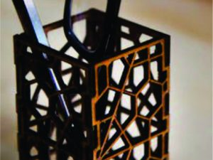 3D Abstract Laser Cut Pen Holder