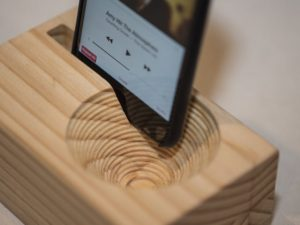 CNC Passive Phone Amplifier Solid Wood