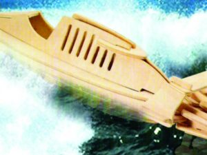 3D Laser Cut Speedboat