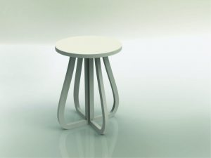 3D Laser Cut Taburete (Spanish for Bar Stool)