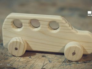 CNC Wooden toy car, 12mm thick timber