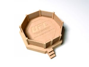 3D Laser Cut UFC Octagon Ring