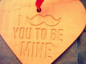 CNC Valentine Hanging Heart, 9mm MDF