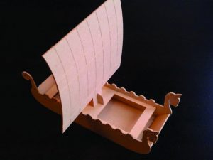 3D Laser Cut Viking Ship