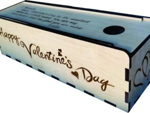 3D Laser Cut Wine Gift Box – Sliding Lid