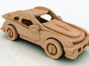 3D Laser Cut Toy Car
