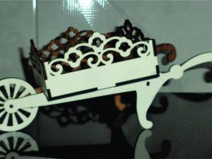 3D Laser Cut Wheelbarrow