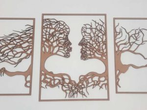 Laser Cut Wall Art – Couple Face