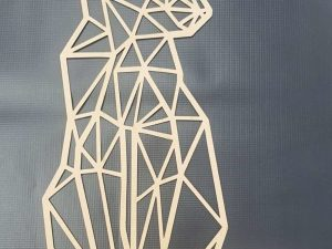 Laser Cut Cat Polygon Art Wall Decor 3D Sculpture Art