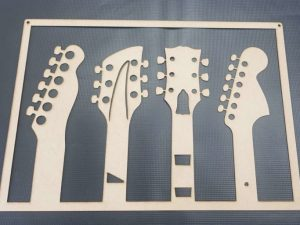 Laser Cut Music Guitars Wall Art Gift For Musician Free Vector