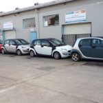 Five of Perfect Laser's fleet of 9 Smart forfour cars nationwide.