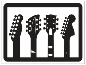 Laser Cut Music Guitars Wall Art