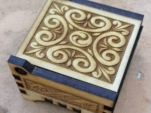 3D Laser Cut Box with lid – 6mm