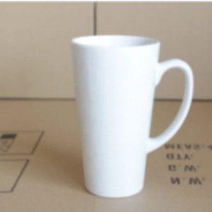 White Latte Ceramic Mug Sublimation 17oz