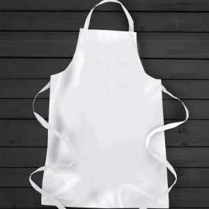 White Polyester Apron For Sublimation