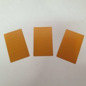 Aluminum Business Cards pack of 100 (Gold)