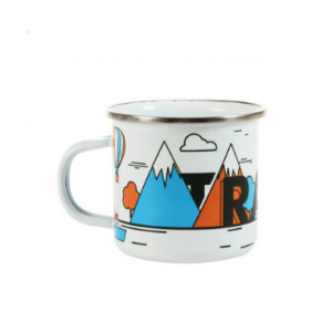 Sublimation Stainless Edge Steel Enamel Cup 10oz