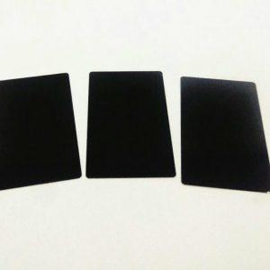Aluminum Business Cards pack of 100 (Black)
