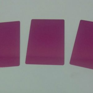 Aluminum Business Cards pack of 100 (Pink)